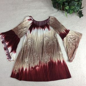 Unbranded Tunic Bell Sleeve Top Size M